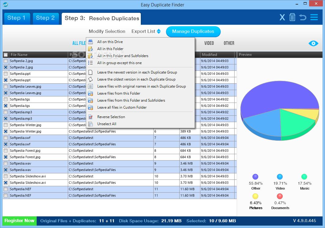 تحميل برنامج ممتاز للعثور على الملفات المكررة وإزالتها لتنظيف مساحة القرصEasy Duplicate Finder 5.27.0.1083