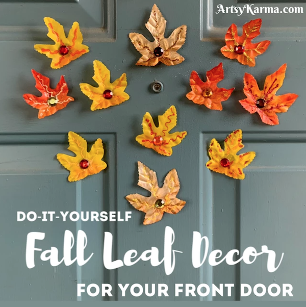 DIY Fall Leaves Magnets to Decorate Your Front Door