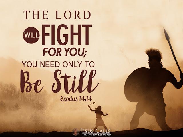 Ayat Alkitab kesabaran: Tuhan yang berperang