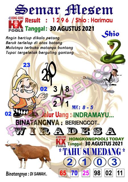 Prediksi Syair HK Semar Mesem Senin 30-Agt-2021