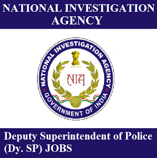 National Investigation Agency, NIA, Ministry of Home Affairs, Government of India, Deputy SP, Superintendent of Police, Graduation, freejobalert, Sarkari Naukri, Latest Jobs, nia logo