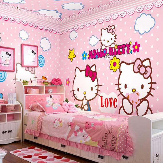 35 Desain Kamar Tidur Hello Kitty Untuk Anak Perempuan Terbaru