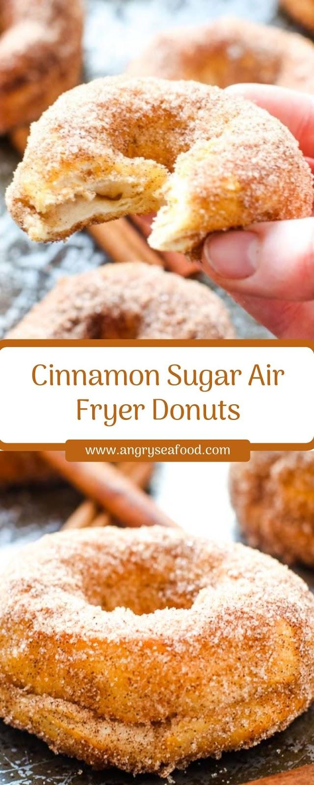 Cinnamon Sugar Air Fryer Donuts