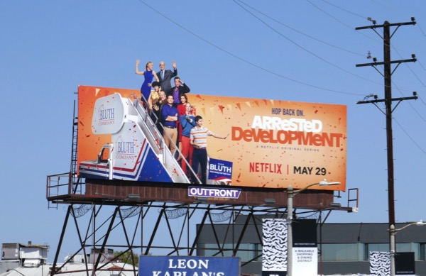 Arrested Development season 5 cut-out billboard