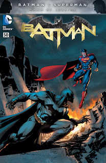 Apres la première fournée de variant covers mettant en avant Batman v Superman (on vous en avait parlé ici ^^) DC comics nous présente les variant covers de Batman #50, Superman/Wonder woman #27, Grayson #18 et de Wonder Woman #50.  Batman #50:    Batman #50 par Chris Daughtry et Jim Lee        Superman/Wonder Woman #27:    Superman/Wonder Woman par charlie Adlard        Grayson #18:    Grayson #18 par Stephen Platt        Wonder Woman #50:    Wonder Woman #50 par Massimo Carneval