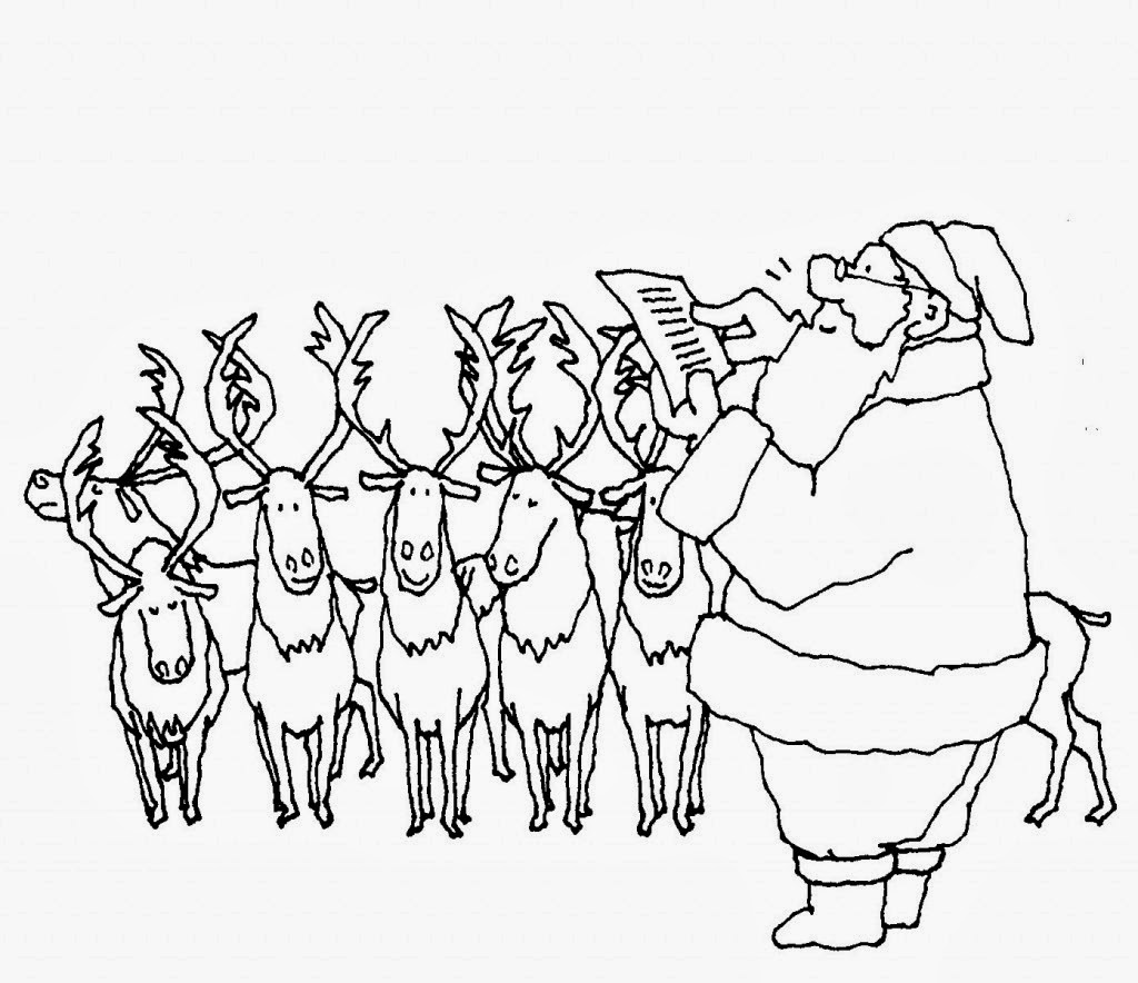 Vistoso Dibujos Para Imprimir Gratis Trineo De Santa Molde - Ideas ...