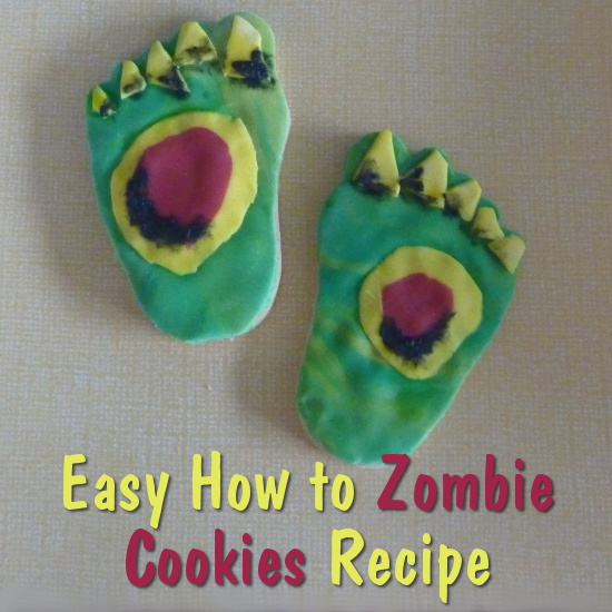 Craft tutorial DIY how to make your own very easy Zombie cookies recipe feet body parts