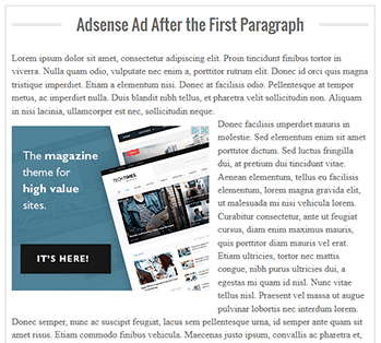adsense inside posts, adsense placement