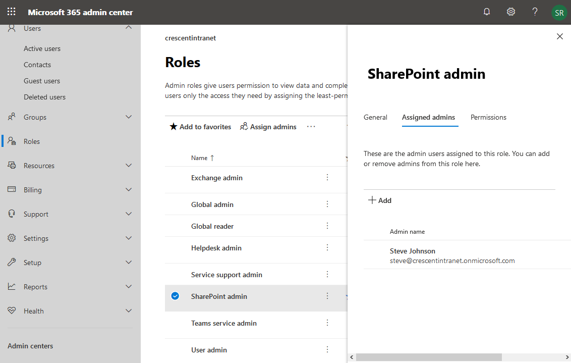 how to assign sharepoint online administrator