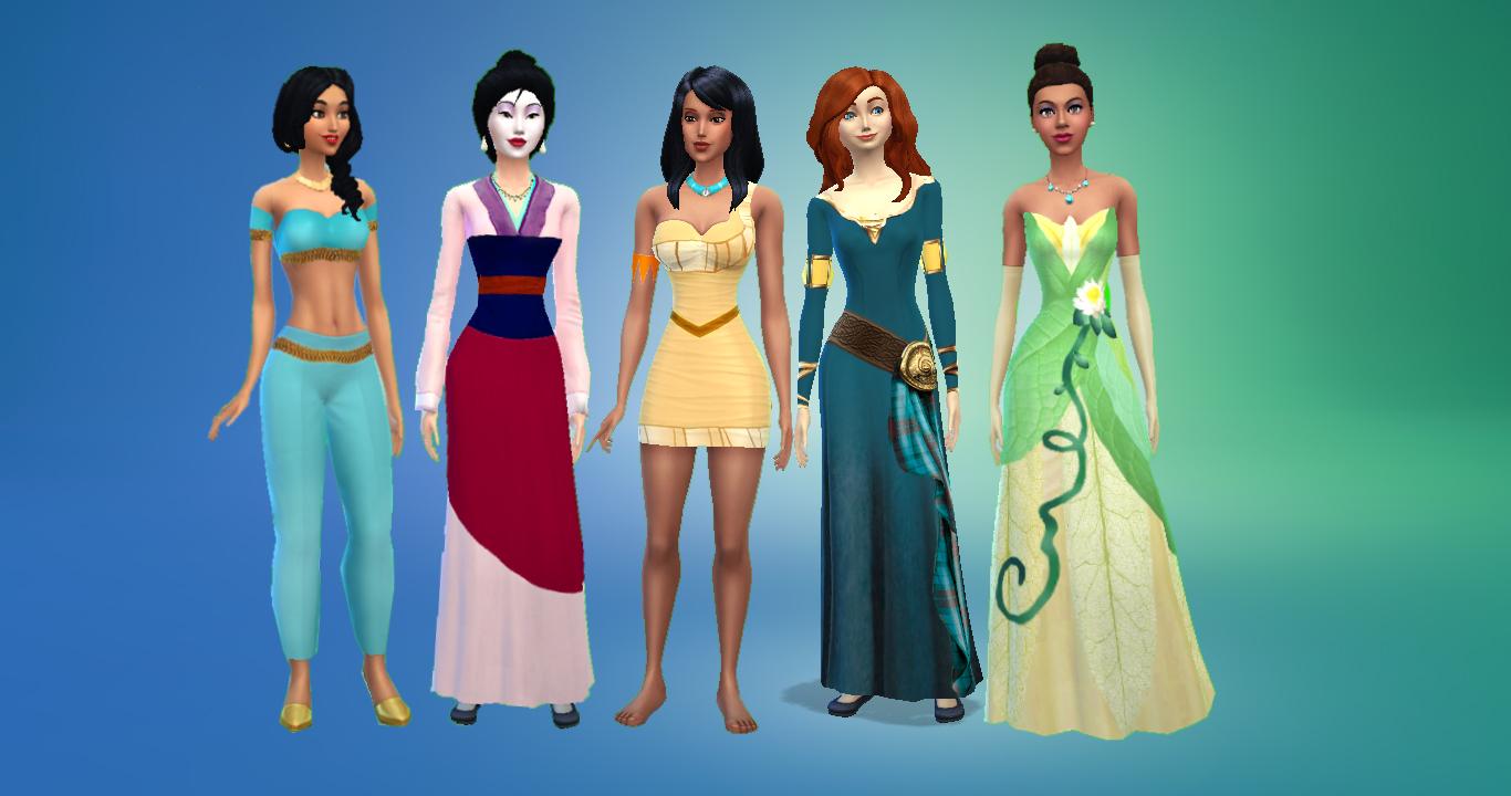 MaleficaXD Sims 4 Mulan Merida PocahontasJasmine Y Tiana