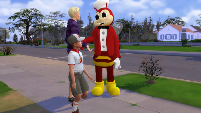Sims 4 Jollibee Mascot CC - Normal Version