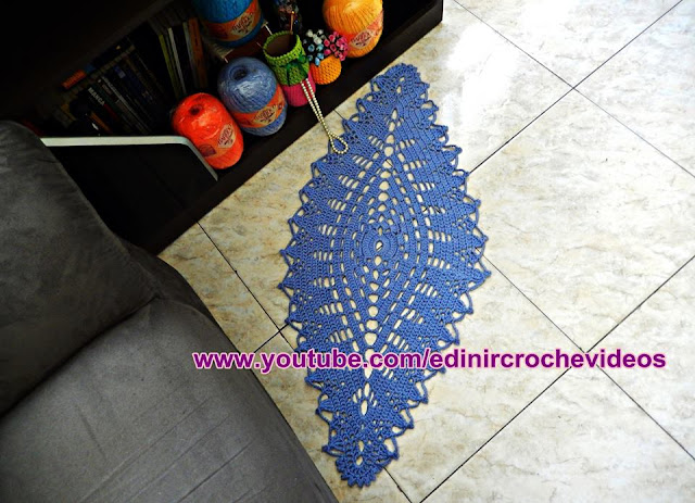 tapete de croche com edinir croche youtube videos facebook curso de croche