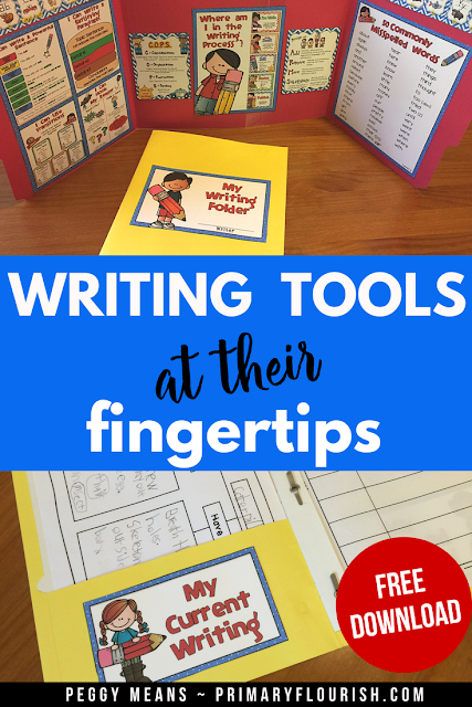 Do you find your students distracted during writing time?  The office provides the needed privacy as well as visual tools that will aid students to progress through the writing process with increasing independence. A Writer's Folder is also included to help those little writers stay organized! #writingoffice #writingprocess #writingofficefolder