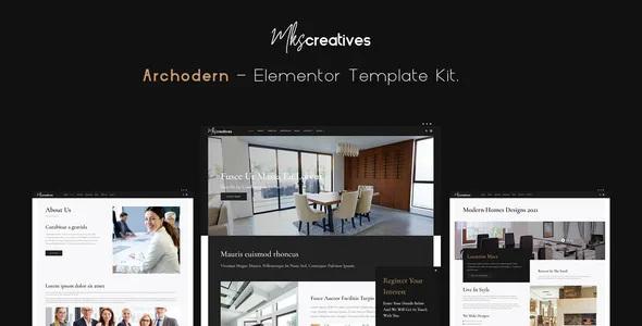 Best Interior & Architecture Elementor Template Kit