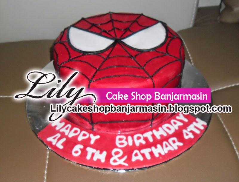 Lily Cake Shop Banjarmasin Kue Spiderman Spiderman Cake