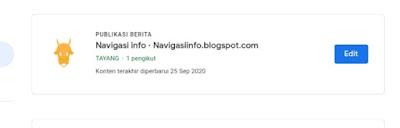 Blogspot terdaftar google news