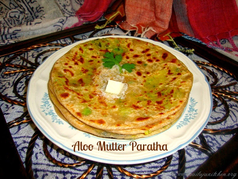 Aloo Mutter Paratha recipe/ Matar Aloo Paratha recipe/ Indian Bread with Peas Potato Stuffing