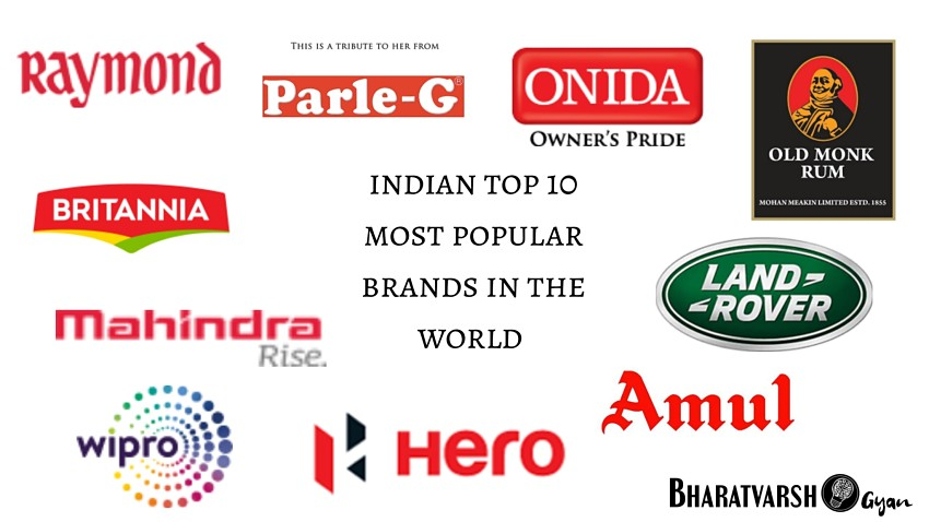 Indian top 10 most popular brands in the world