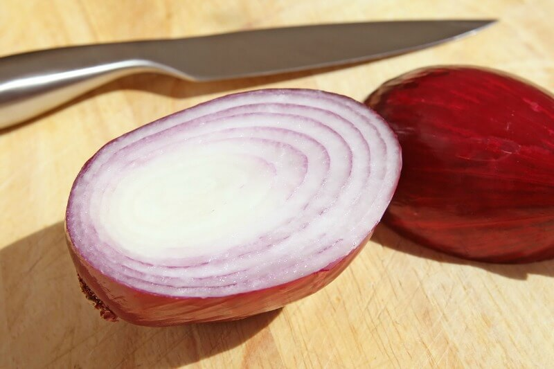 Sliced shallot.