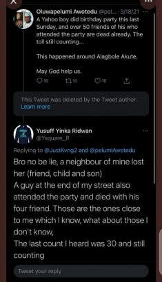 Oh no! 50 People Died After Attending Yahoo Boy's Birthday In Akute