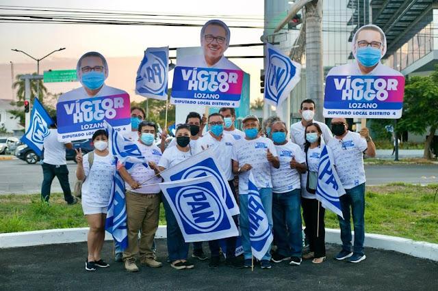 """""""¡La campaña fue un éxito, ahora ganaremos el IV Distrito!"""", afirma Víctor Hugo Lozano"""