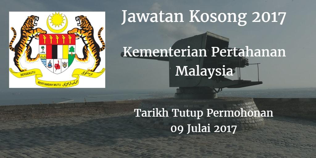 Jawatan Kosong MOD 09 Julai 2017