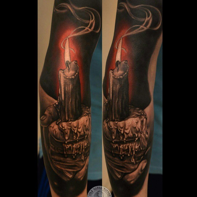hand holding burning candle tattoo tattoo geek ideas for best tattoos. Black Bedroom Furniture Sets. Home Design Ideas