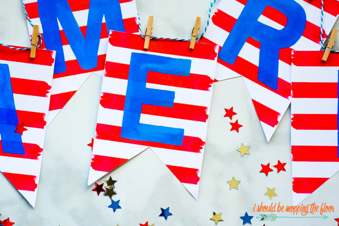 Fourth of July Banner Printable