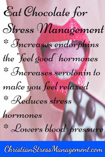 Eat chocolate for stress management