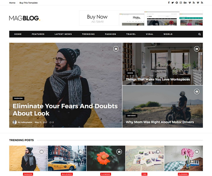 MagBlog Blogger Template