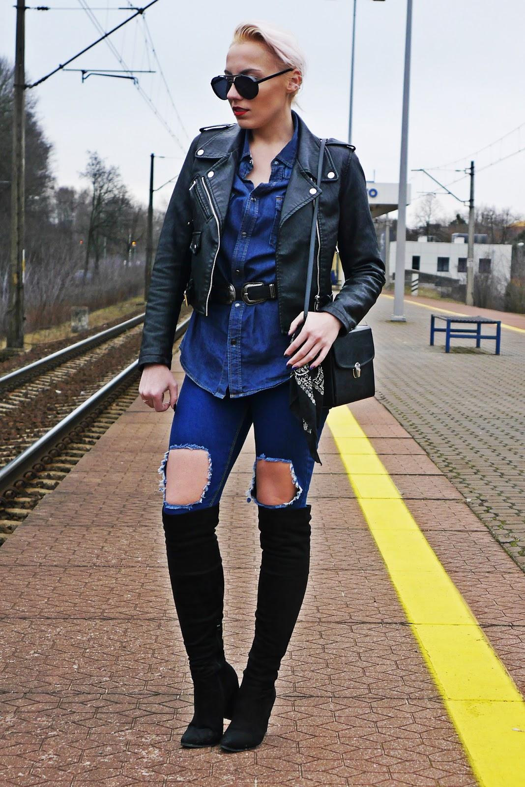jeansowa_koszula_czarna_ramoneska_kozaki_z_kolano_karyn_look_230217d