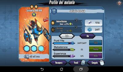 Mutants: Genetic Gladiators Breeding video N°469 (R0B-H4N Sentinel - Robot # Sentinella R0B-H4N - Robot)