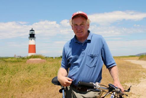 Rob Benchley at Sankaty Head Lighthouse. Photo by Jeremy D'Entremont.