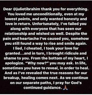 Iceberg Slim apologizes to Juliet Ibrahim