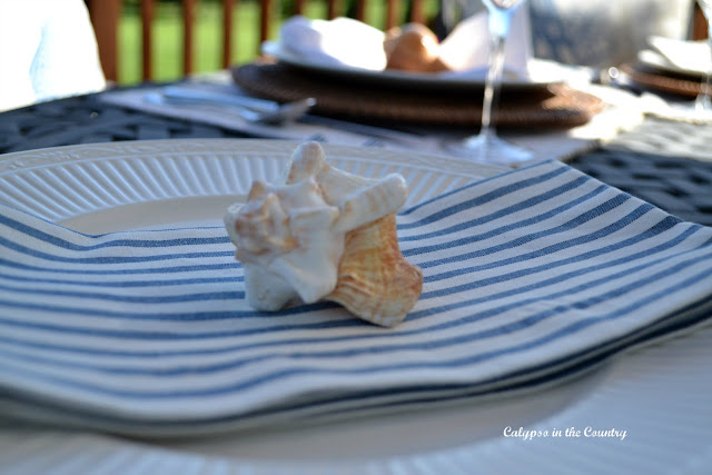Coastal Table Setting with shells
