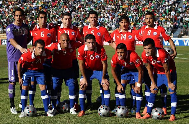 Formación de Chile ante Bolivia, Clasificatorias Brasil 2014, 2 de junio de 2012