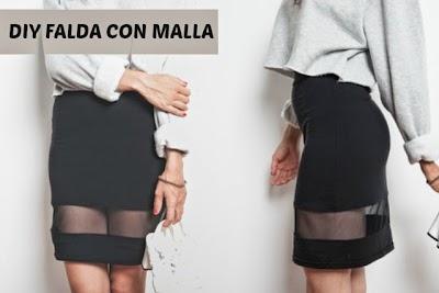 Falda transformada con Malla