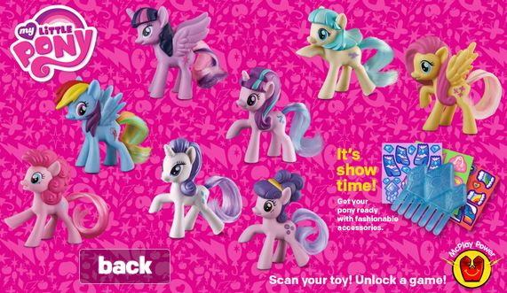 Mcdonalds Happy Meal Toys Officially Announced for February! Coco Pommel, Suri Polomare, and Starlight Glimmer