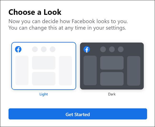 خيار موضوع مظلم جديد من Facebook