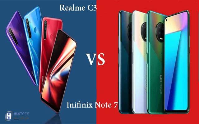 مقارنة بين هاتفين infinix note 7 و هاتف Realme C3,مقارنة بين infinix note 7 و ,Realme C3,مقارنة,مراجعة,ريلمي,نوت,اندرويد,اندرويد 10,Android,Android 10