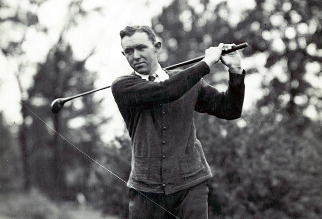 Golfer Jesse Guilford circa 1921