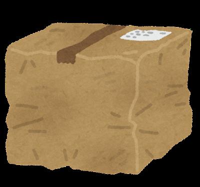 ボロボロのダンボール箱のイラスト