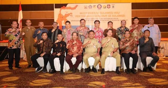 Gubernur se Sulawesi Mendaulat Olly Dondokambey Sebagai Ketua Umum BKPRS