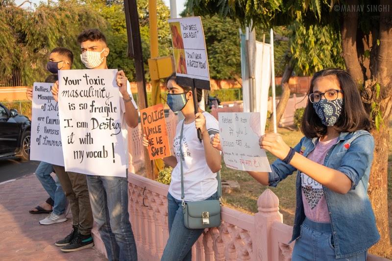 Youth Protest Gandhi Circle Jaipur 0