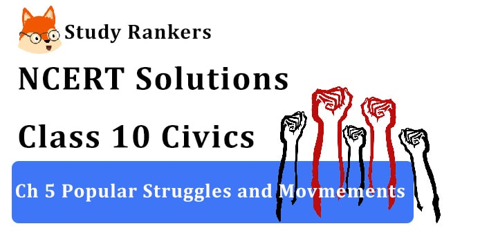 NCERT Solutions for Class 10 Ch 5 Popular Struggles and Movements Civics