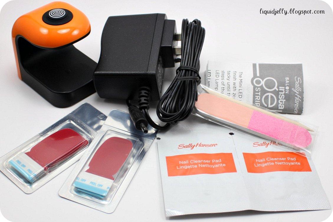 Liquid Jelly: Sally Hansen Salon Insta-Gel Strips Starter Kit Review
