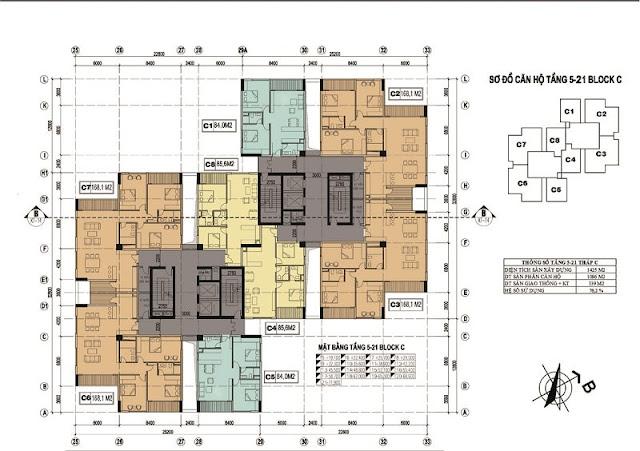 Hình minh họa mặt bằng chung cư x2 Đại Kim