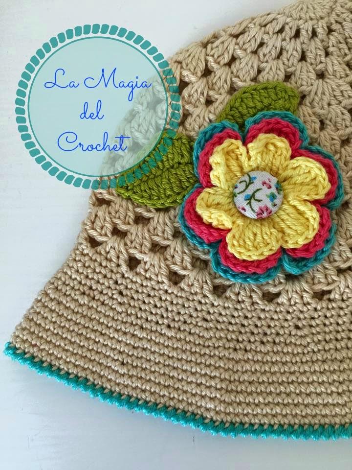 La Magia del Crochet: SOMBRERO DE VERANO