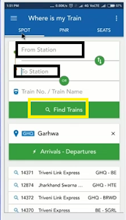 live running status in where is my train apps
