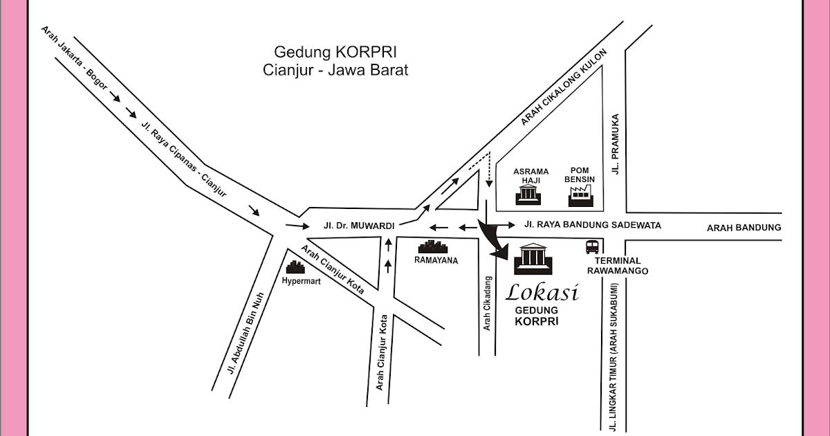 Denah Gedung KORPRI Cianjur - Jawa Barat - Desain Grafis ...